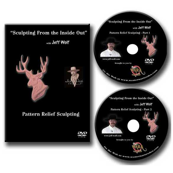 Dvd set deer pattern relief sculpting