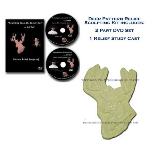 Mule Deer Bust Pattern Relief Sculpture Kit