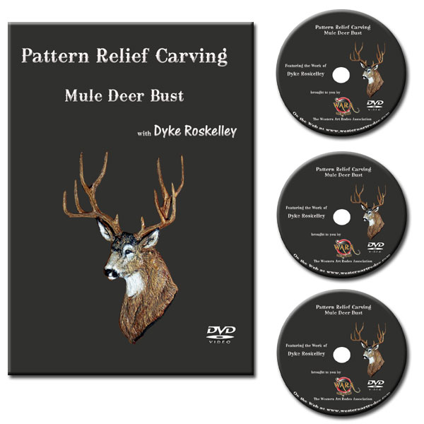 Dvd set relief carving mule deer bust