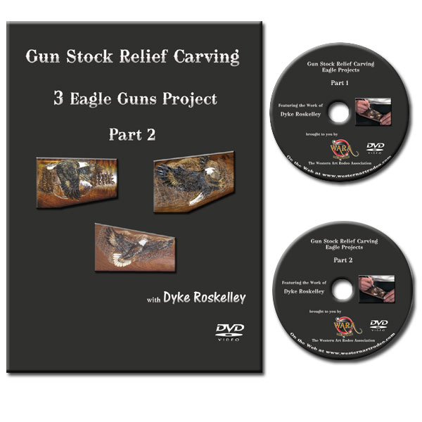 Dvd set gun stock relief carving bald eagle designs