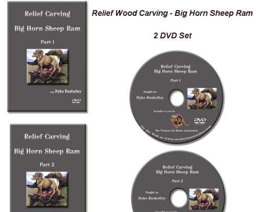 Big Horn Sheep Wood Carving DVD Set