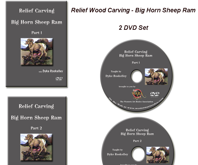 Reilef carving a big horn sheep dvd set