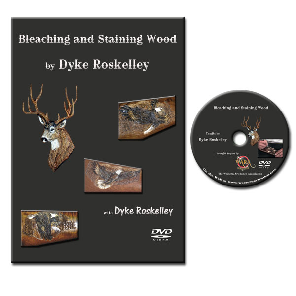 DVD - How to Bleach and Stain Wood Carving Projects by Dyke Roskelley